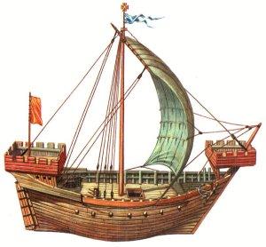 bateau moyen âge